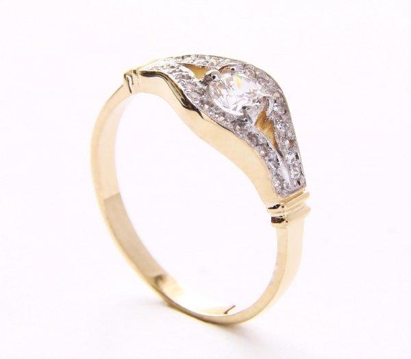 ARTES-Pierścionek złoty 455 PR. 585