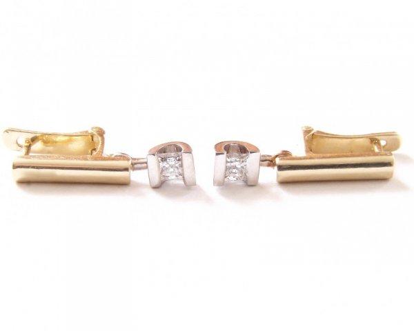 Kolczyki złote 585 na klapkę, zatrzaskowe - ARTES-Kolczyki złote 529 PR. 585
