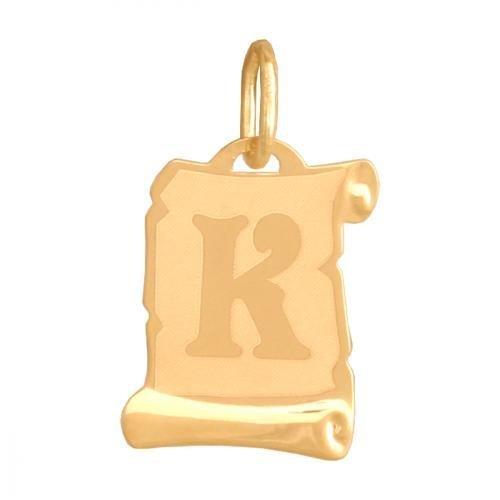 Zawieszka złota 585 litera, literka K -  Lv02k