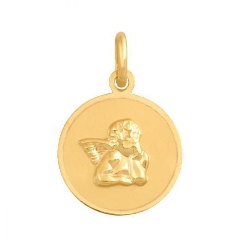 Zawieszka złota 585 Aniołek, Amorek -  17034