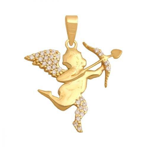 Zawieszka złota 585 Aniołek, Amorek -  31935