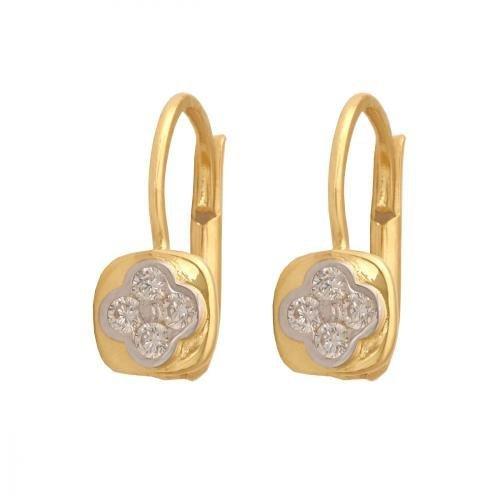 Kolczyki złote 585 wiszące - 32210