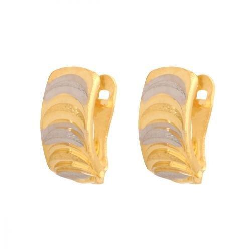 Kolczyki złote 585 na klapkę, zatrzaskowe - 34083