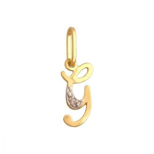 Zawieszka złota 585 litera, literka G -  34828