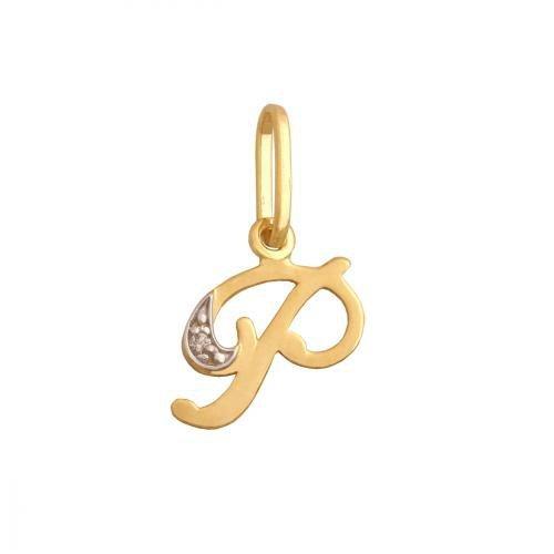 Zawieszka złota 585 litera, literka P -  34846
