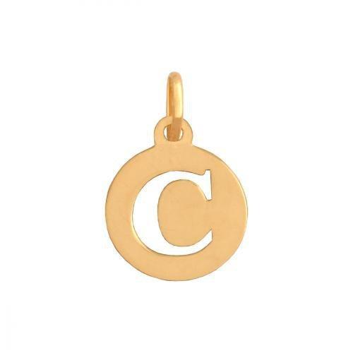 Zawieszka złota 585 litera, literka C -  35366