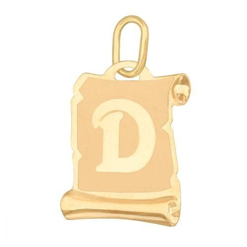 Zawieszka złota 585 litera, literka D -  Lv02d
