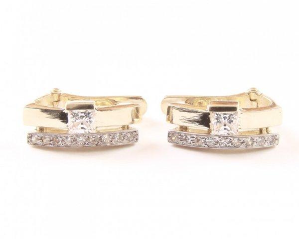 Kolczyki złote 585 na klapkę, zatrzaskowe - ARTES-Kolczyki złote 495 PR. 585