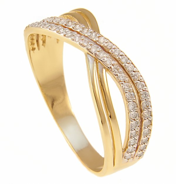 ARTES- Pierścionek złoty obrączka 687/585