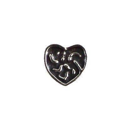 Zawieszka modułowa koralik charms srebro 925 serce