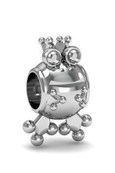 Zawieszka modułowa charms srebro 925 żabka