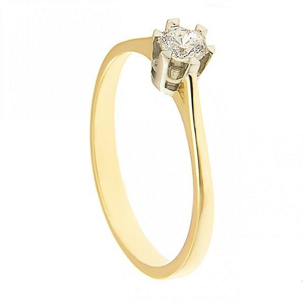 Pierścionek złoty zaręczynowy 585
