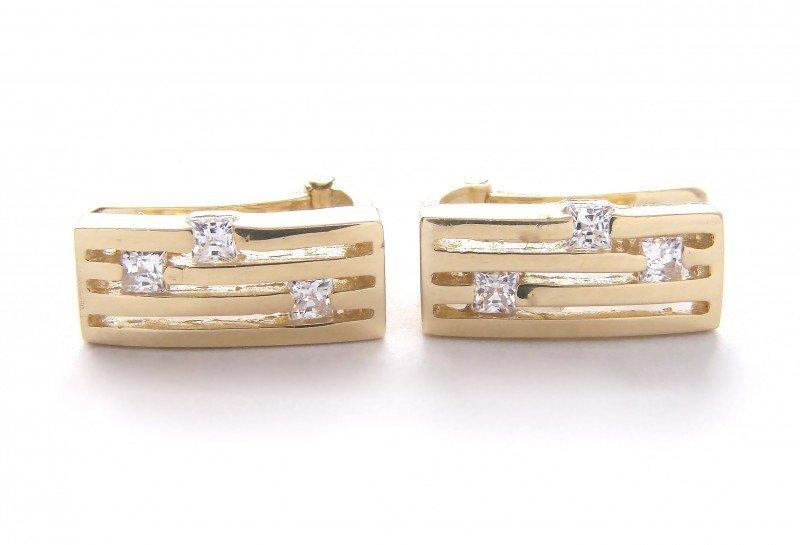 Kolczyki złote 585 na klapkę, zatrzaskowe - ARTES-Kolczyki złote 462 PR. 585