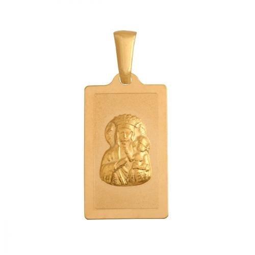 Medalik złoty 585 Matka Boska Częstochowska
