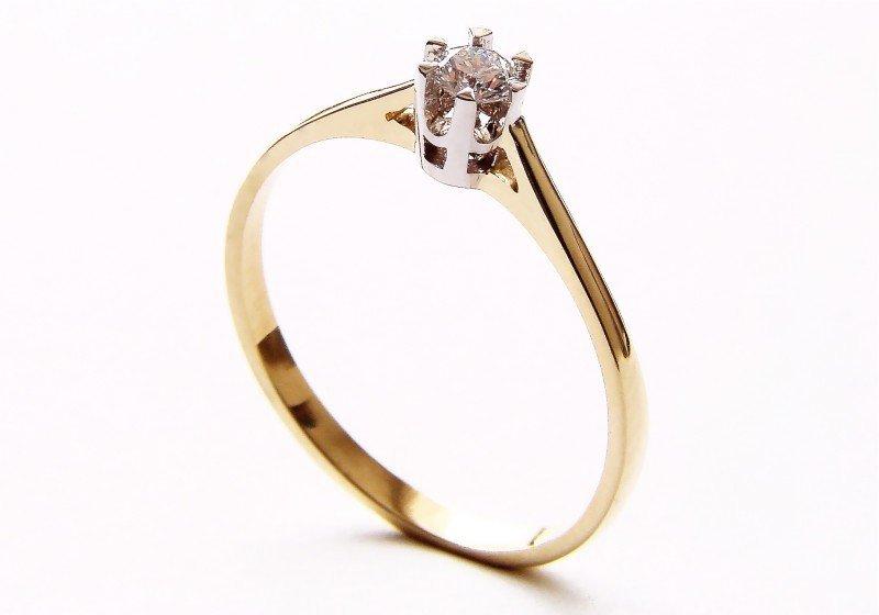 Pierścionek złoty 585 zaręczynowy 24H PROMOCJA BC78