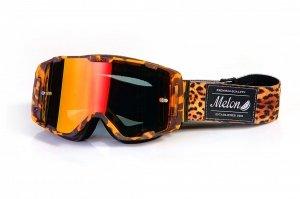 Gogle Melon PARKER MTB/MX Tygrys (Pasek i szkło do wyboru)
