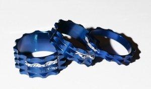 GUBbike-Zestaw 3 podkladek PRO+Turner 5/10/15 kolor- niebieski (2012)