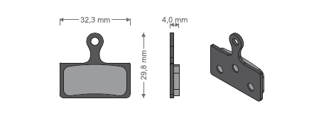KLOCKI METALICZNE - Shimano XTR M9000/M9020/M985/Deore XT