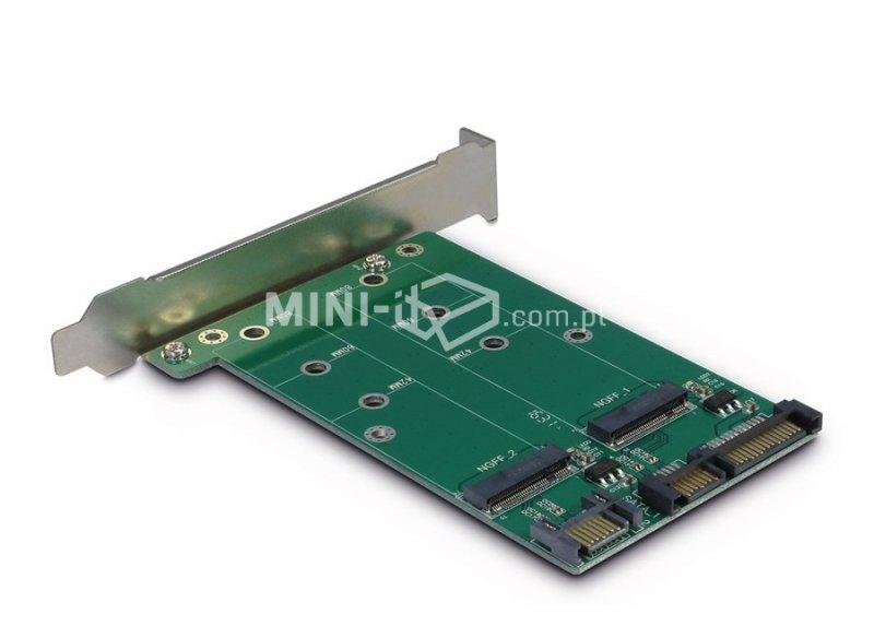 Adapter z 2x SATA do 2x M.2 na śledziu Inter-Tech