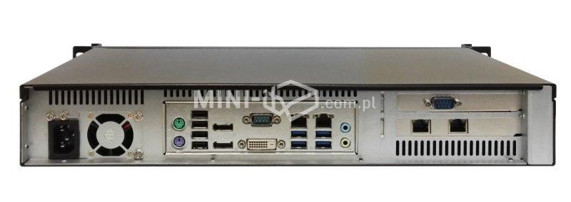 Komputer µForce Serwer Rack / Intel i5-6400 / 8GB RAM / 240GB SSD / Hot-Swap / 4x LAN / Mini-ITX