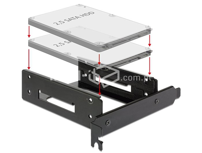 Adapter 2x 2.5 cala na slot PCI/PCIe