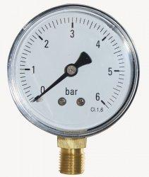Manometr Techniczny 0-6 Bar 63 Mm 1/4 Dolny