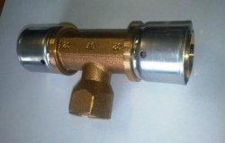 Oventrop Cofit P Trójnik zaprasowywany 32x1/2X32 GW