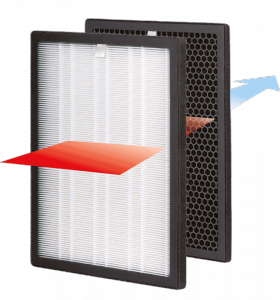 Filtr powietrza HL-OP-15/F HEPA + węglowy