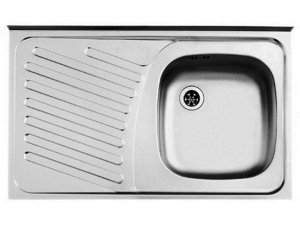 Zlewozmywak Alveus Compact 10 50x80 cm 1-komorowy INOX +syfon