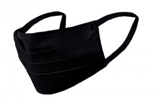 Maseczka na twarz maska bawełniana czarna 2 warstwowa