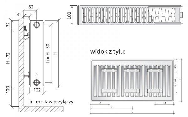 PURMO C22 600x1000 COMPACT RADIATOR