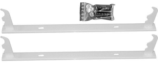 Uchwyt grzejnika aluminiowego Wieszak listwowy H350 Komplet