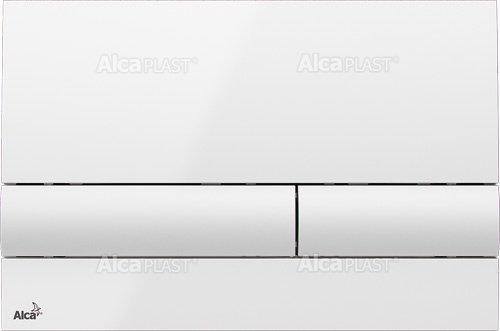 Alcaplast M1710 przycisk spłukujący WC biały połysk