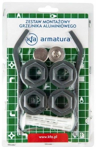 korki i uchwyty grzejnika aluminiowego grafit g500f