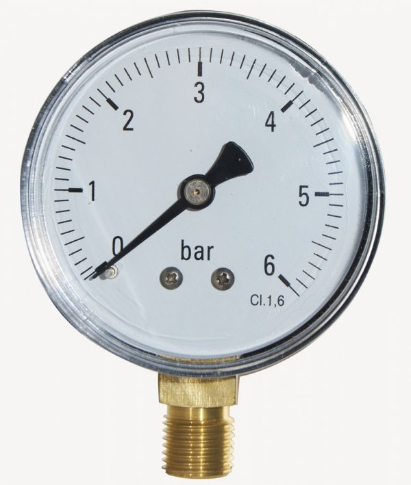 "Manometr Techniczny 0-6 Bar 63 Mm 1/4"" Dolny"
