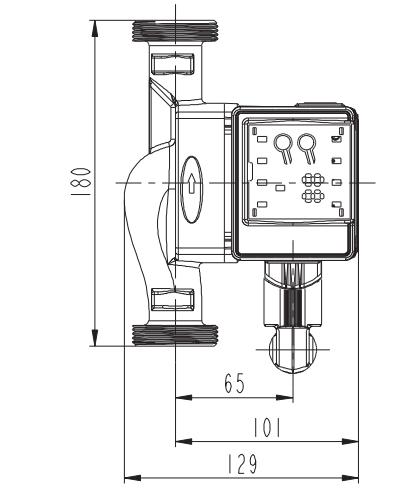 Pompa Obiegowa elektroniczna C.O. 25-60 oszczędna