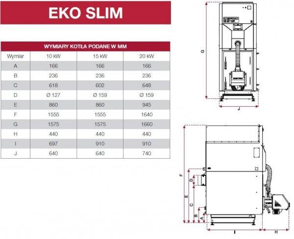 Defro Eko Slim 20 kw Kocioł peletowy 5 klasy
