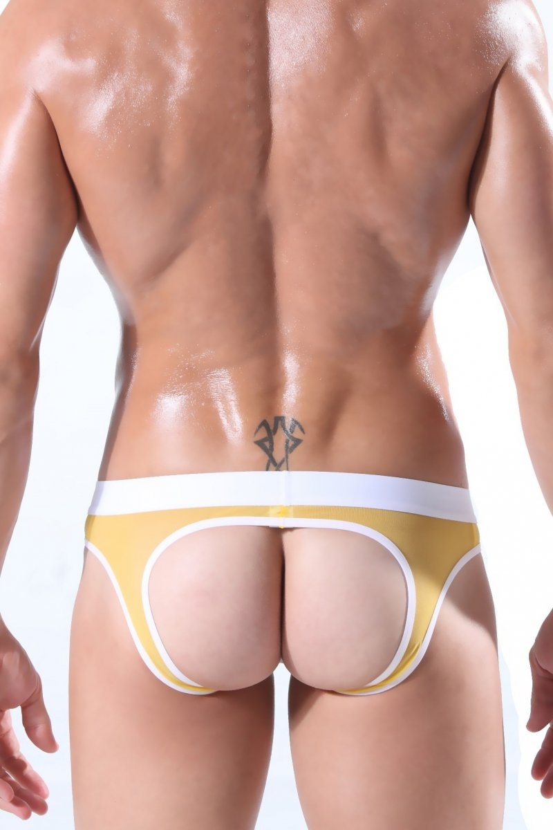 Royalunderwear - men`s underwear - BODY GMW Ultra Mesh Yellow Briefs ... 84cd695d9