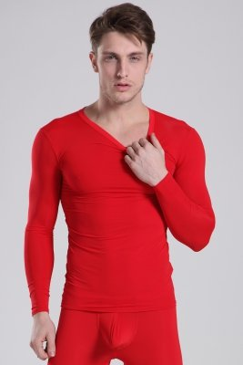 Thermal Top Push Up MANVIEW Red