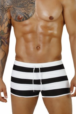 Supa! Swim! Black Sailor Swimming boxers