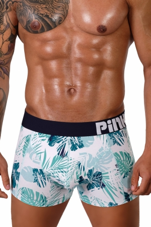 Boxerky PINK HERO Summer `19 [Green Hibiscus]