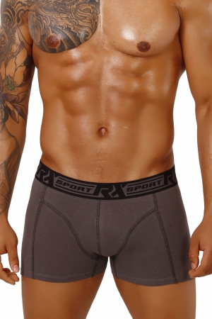 Boxerky RX SPORT 365 Grey+Black