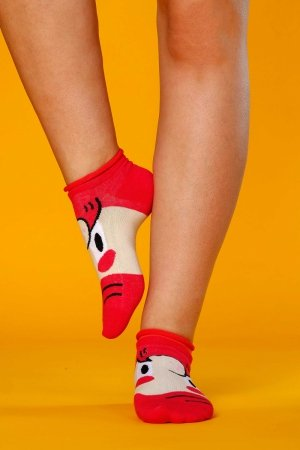 Supa! Sox! Red Face ladies socks