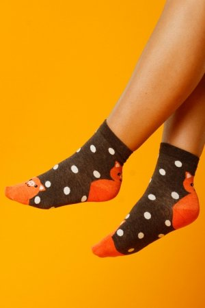 Supa! Sox! Bronw Pig ladies socks (JP6139)