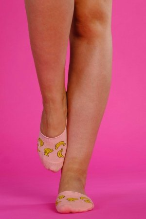 Supa! Sox! Pink Bananas ladies socks