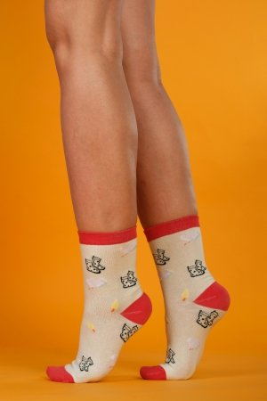 Supa! Sox! Lime Fun ladies socks