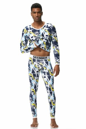 Men`s thermal set SEEINNER Psycho Yellow