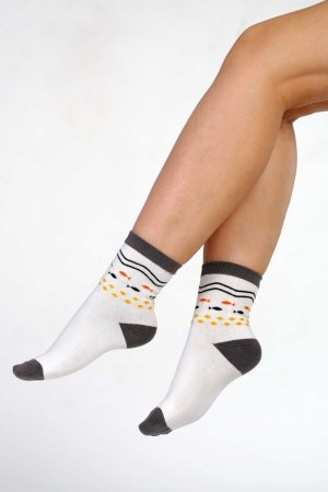 Supa! Sox! Grey Fish ladies socks