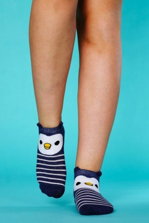 Supa! Sox! Navy Pingu ladies socks