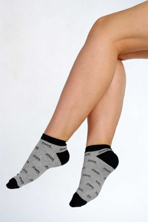 Supa! Sox! Grey Glasses ladies socks
